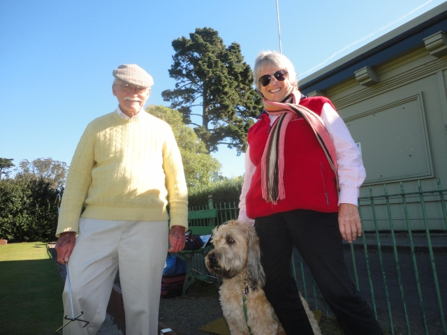 Judith & Bill, SFLBC's volunteer instructor...we all have such a good time together!