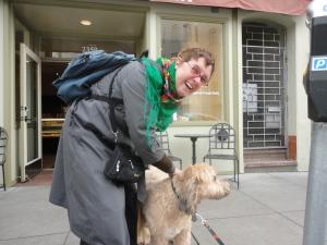 I helped make a passerby happy on St. Patrick's Day! (@ Chestnut St. Bakery)