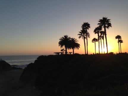 Winter sunset from a favorite walk, Treasure Island Park, just seaward of the Montage Resort in Laguna Beach.