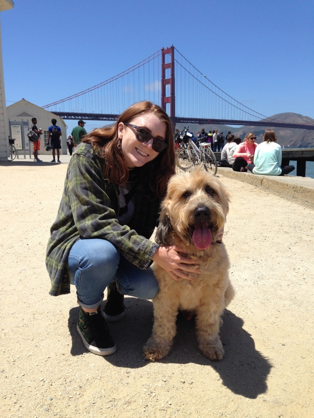 Kelsey and me after a great afternoon on Crissy Field, just before we said our goodbyes