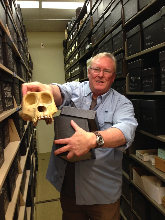 Bruce Latimer, renowned paleoanthropologist, and a portion of the collection at CMNH.org.